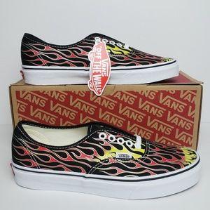 Vans Authentic Mash Up Flames Low Top Skate Shoes